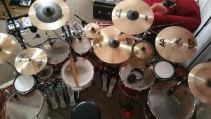 Studio recording drum set