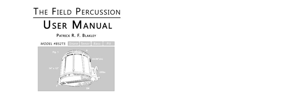 The Field Percussion User Manual Book & eBook