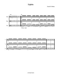 Eighths drumline warmup small