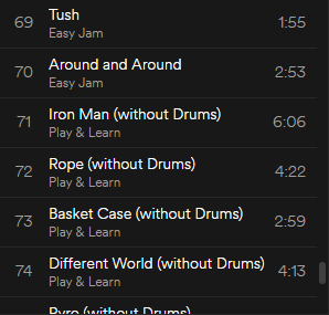 drumless