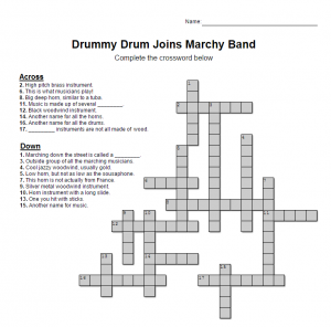 Drummy Crossword