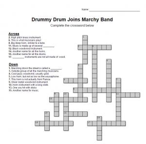 Drummy Crossword